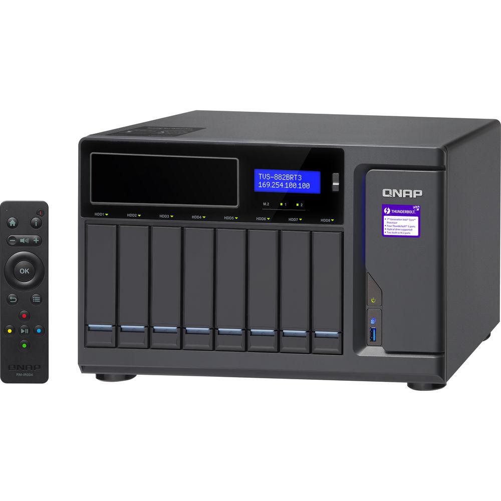ذخيره ساز تحت شبکه کيونپ  تي وی اس-882بی آر-او دی دی-آی7-32جی | Network Storage: QNAP TVS-882BR-ODD-i7-32G