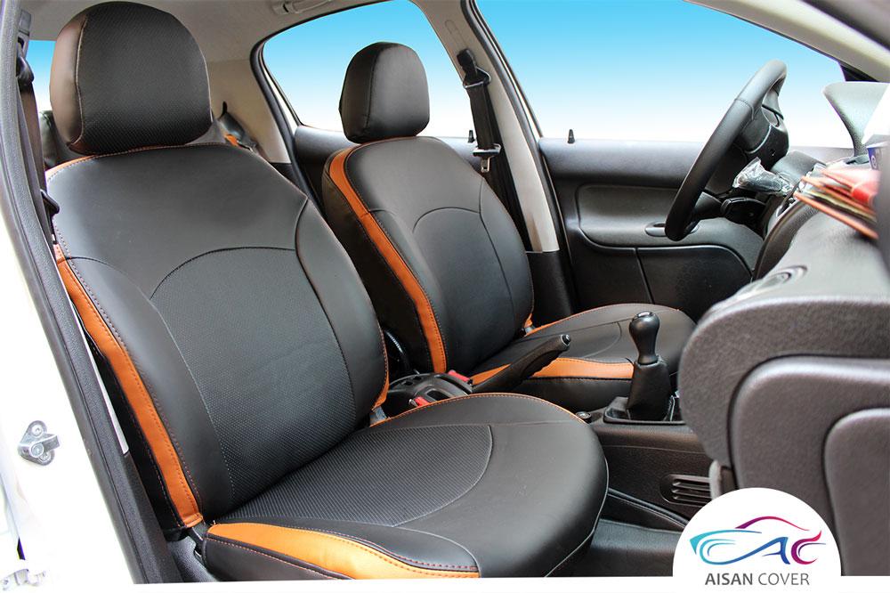 روکش صندلی چرم ایران خودرو پژو 206 کد 17برند آیسان | Aisan Iran Khodro Peugeot 206 Code 17  seat Cover