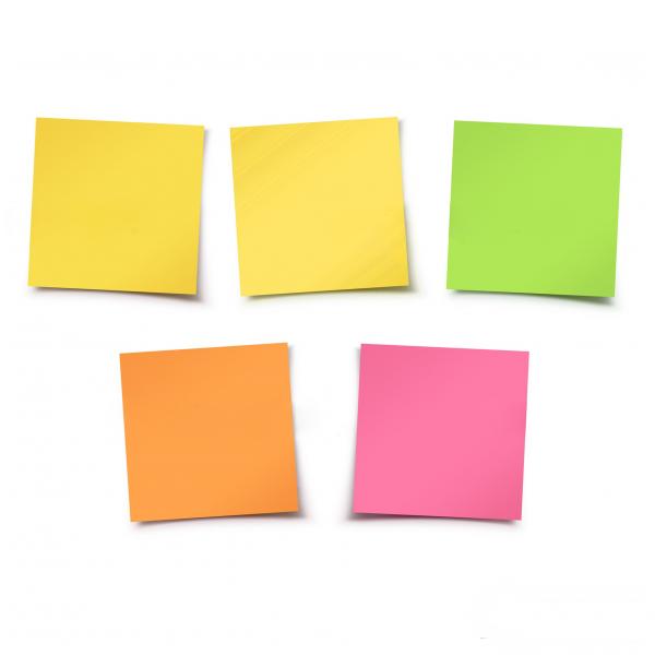 کاغذ یادداشت چسب دار پنج رنگ سایز  5x5 | Note paper Adhesive 5Color , 5x5 mm